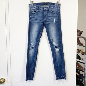 Flying Monkey Distressed Raw Hem Skinny Jeans 28